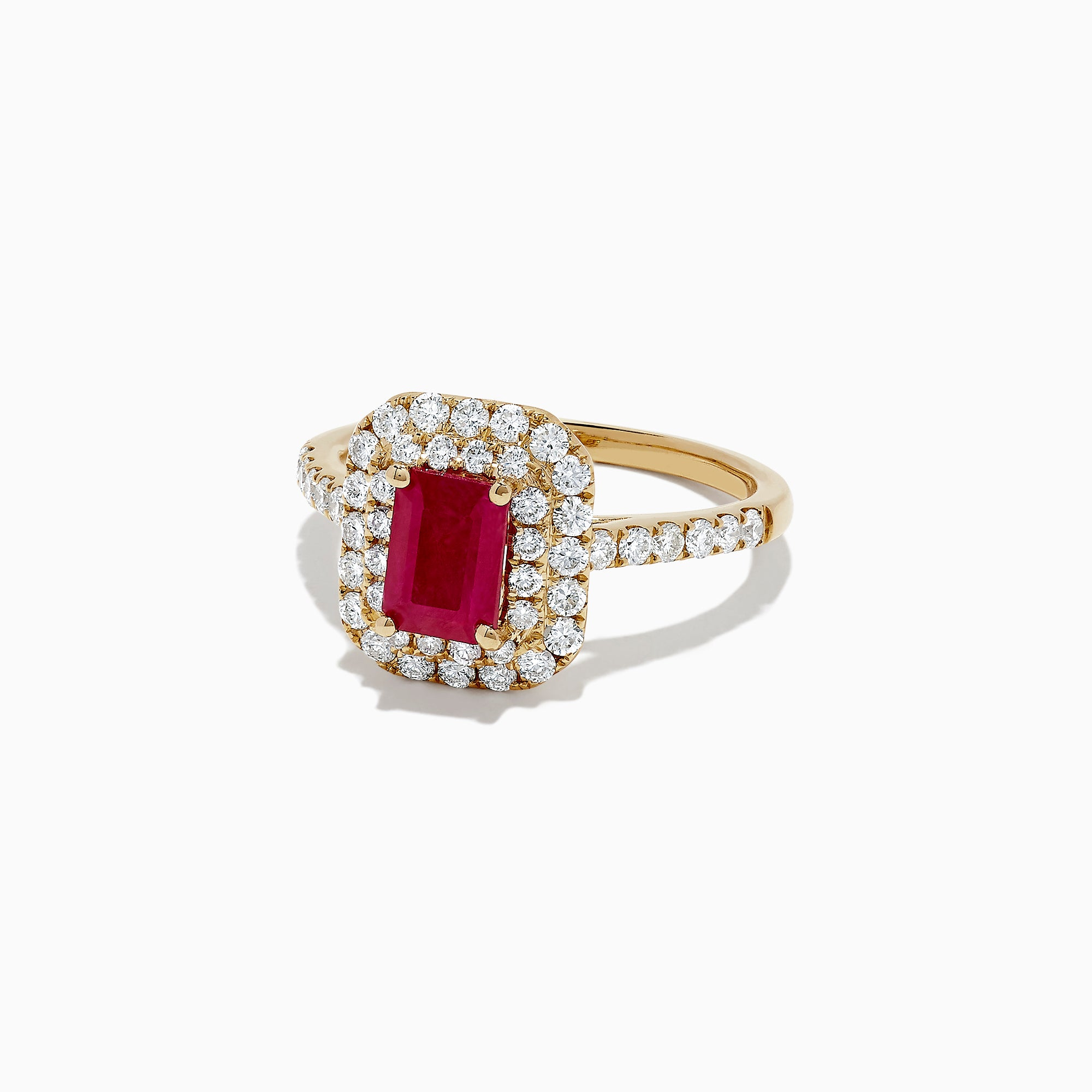 Effy 14K Yellow Gold Ruby and Diamond Ring, 1.74 TCW