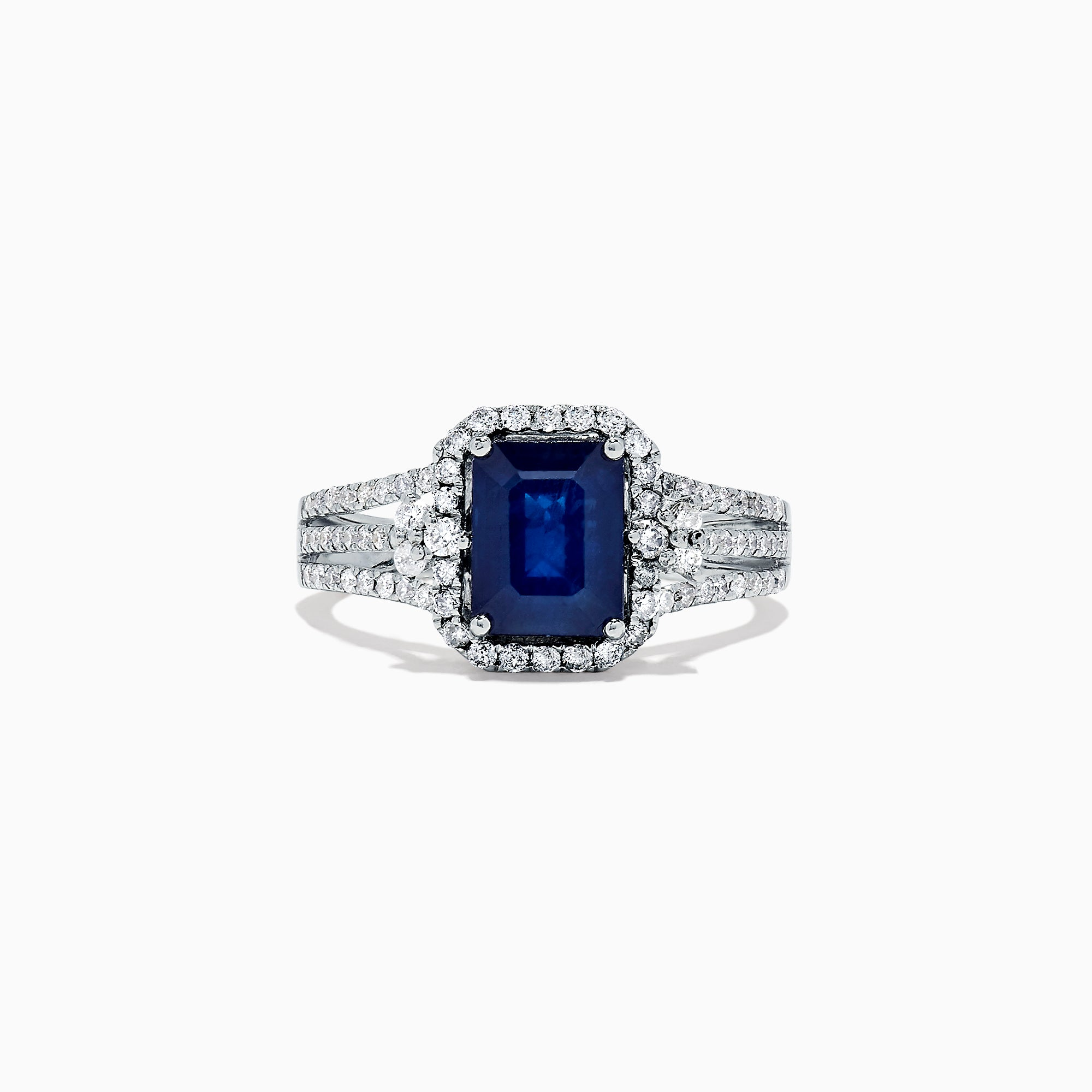 Effy 14K White Gold Sapphire and Diamond Ring, 2.01 TCW