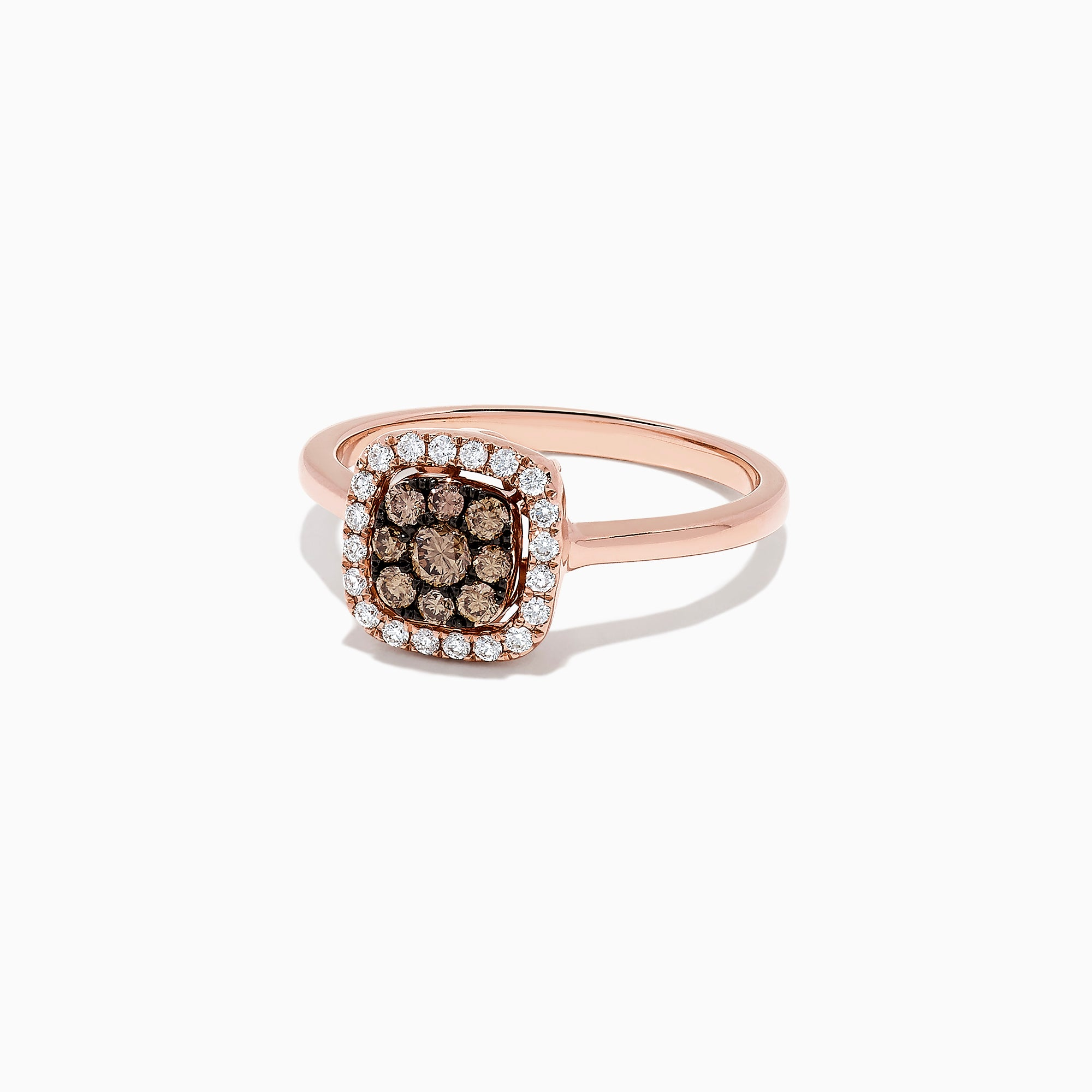 Effy 14K Rose Gold Espresso and White Diamond Ring, 0.45 TCW