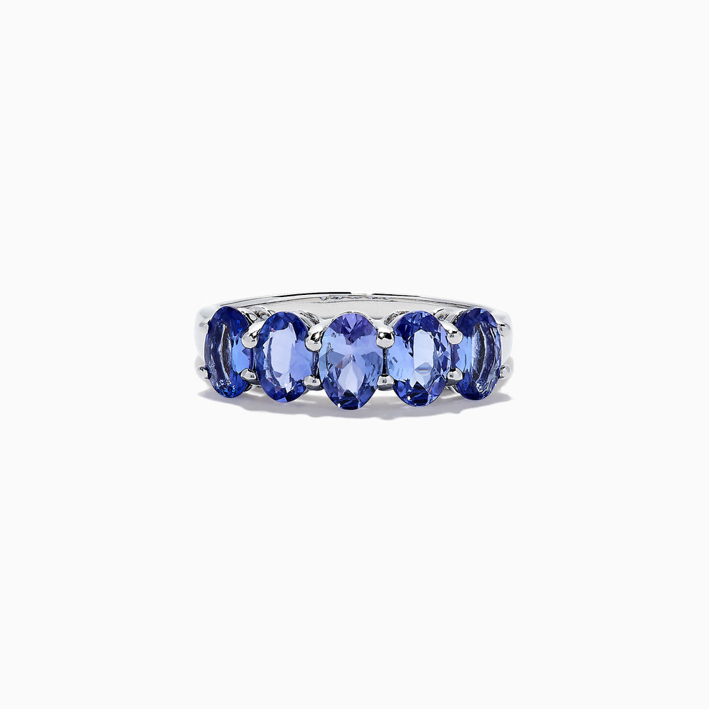 Effy Tanzanite Royale Sterling Silver Tanzanite Band Ring, 2.14 TCW