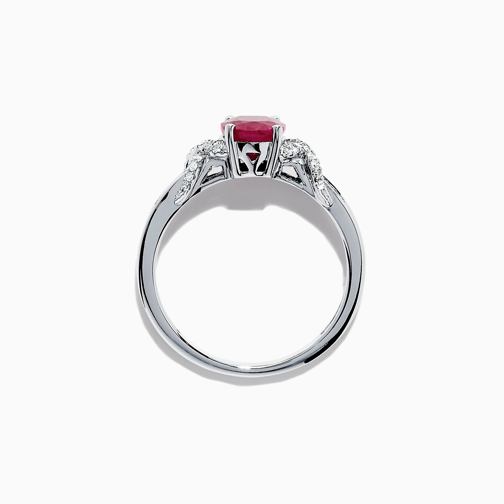 Effy Ruby Royale 14K White Gold Ruby and Diamond Ring, 1.90 TCW