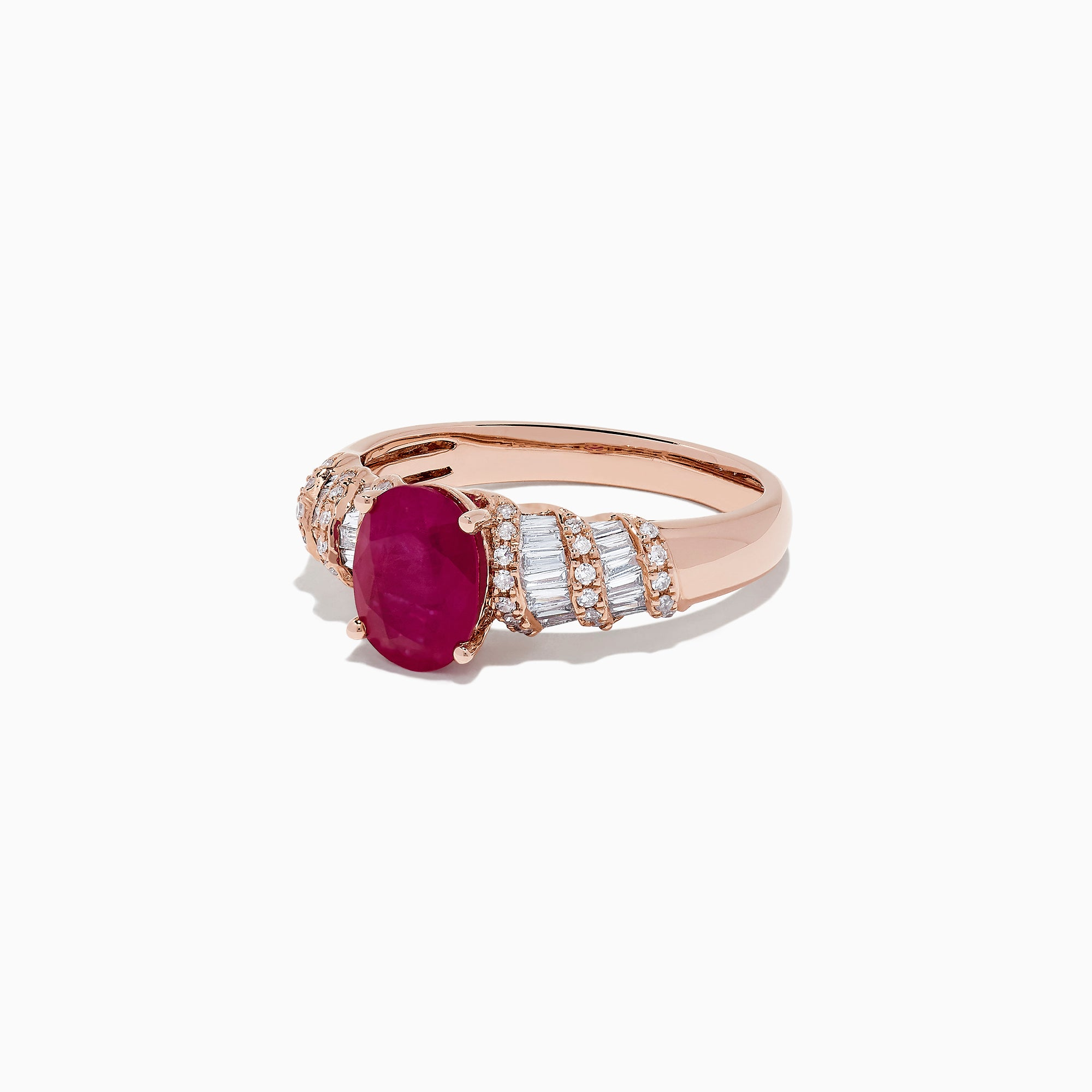 Effy Ruby Royale 14K Rose Gold Ruby and Diamond Ring, 1.81 TCW