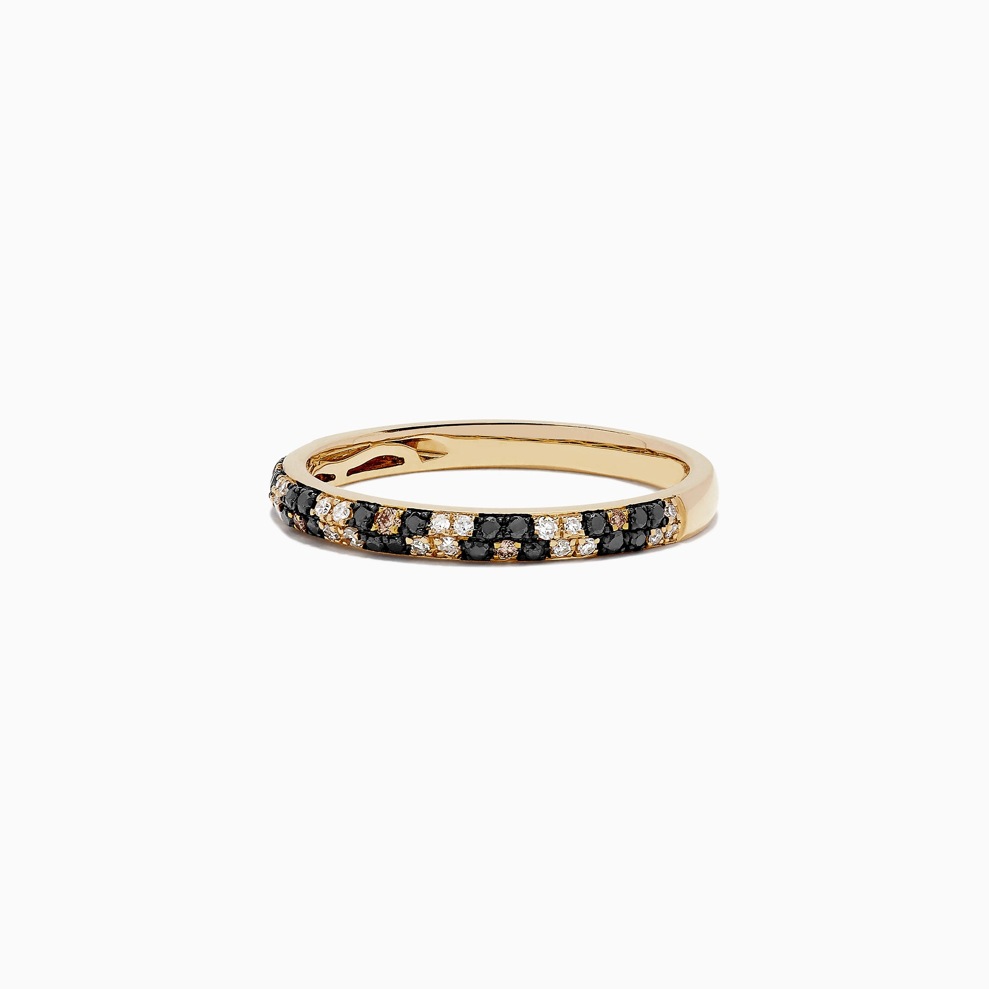 Effy 14K Yellow Gold Diamond Leopard Spot Ring, 0.25 TCW