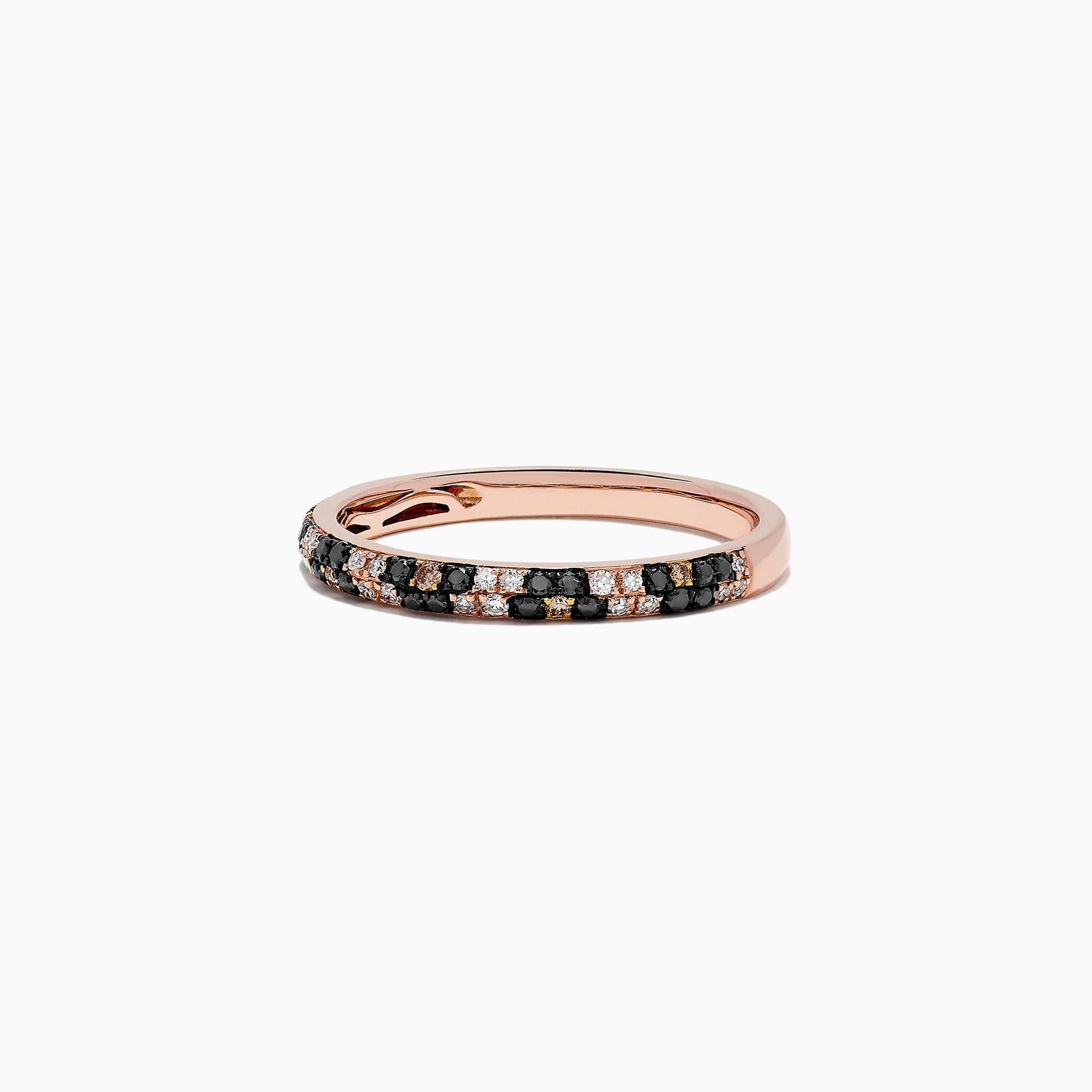Effy 14K Rose Gold Diamond Leopard Spot Ring, 0.25 TCW