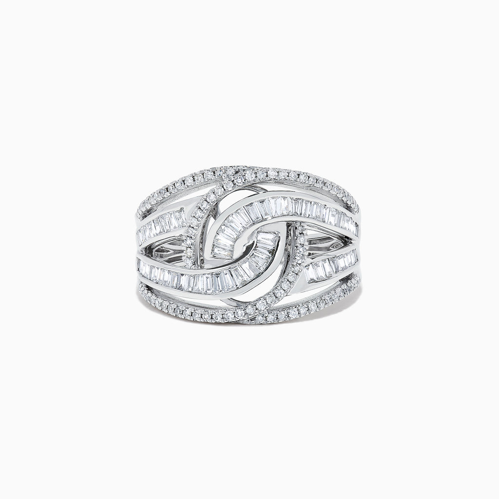Effy Classique 14K White Gold Diamond Ring, 0.81 TCW