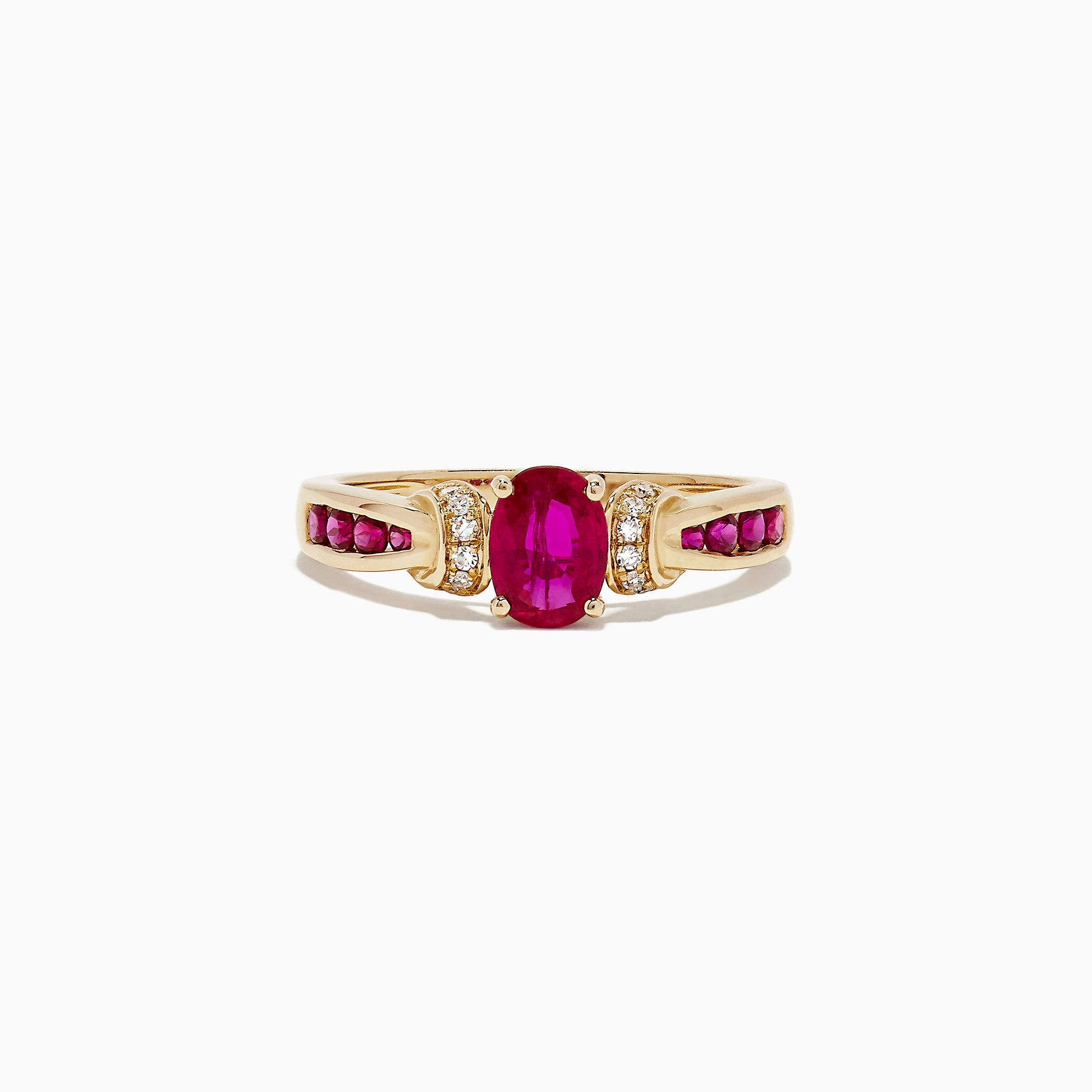Effy 14K Yellow Gold Ruby and Diamond Ring, 1.32 TCW