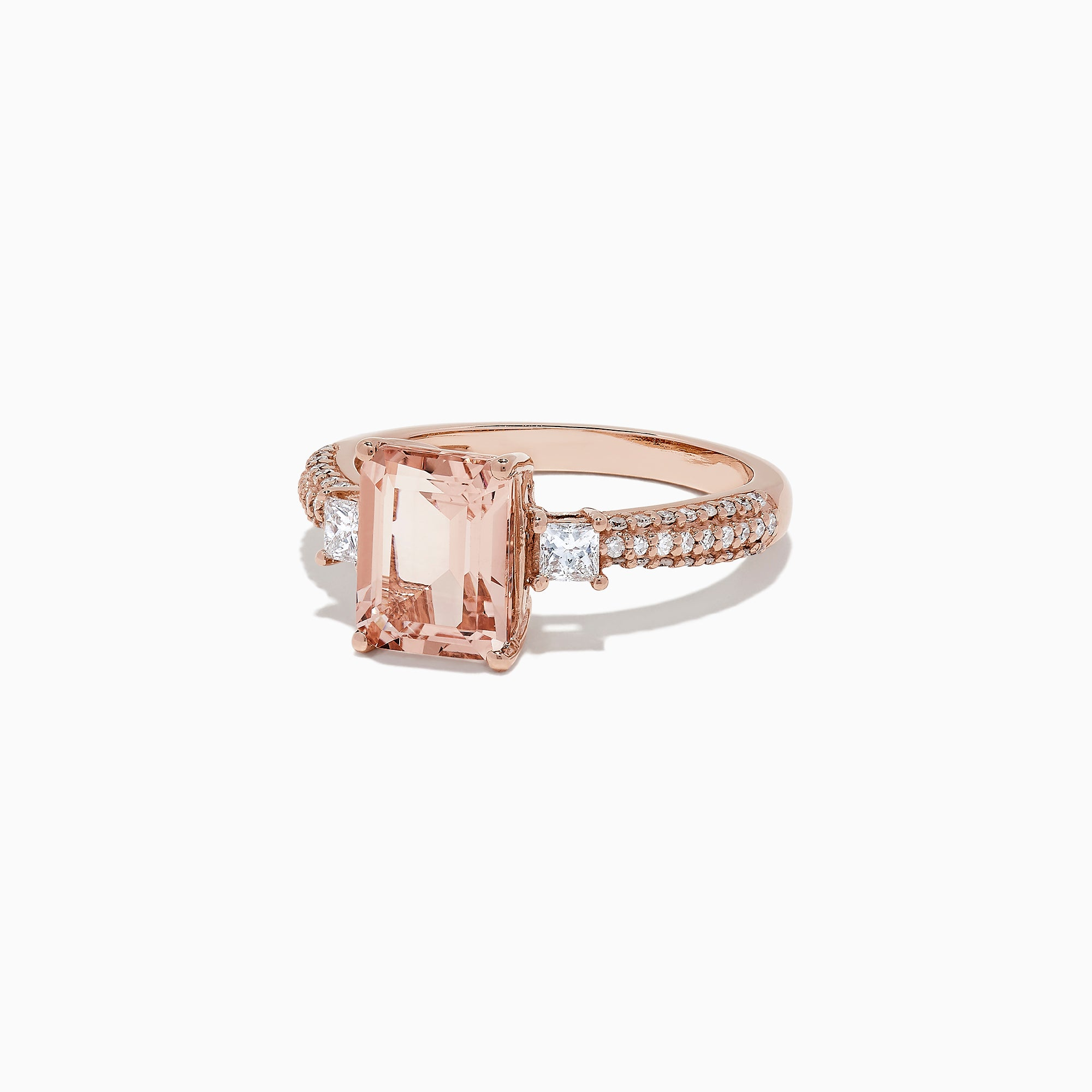 Effy Blush 14K Rose Gold Morganite and Diamond Ring, 2.59 TCW