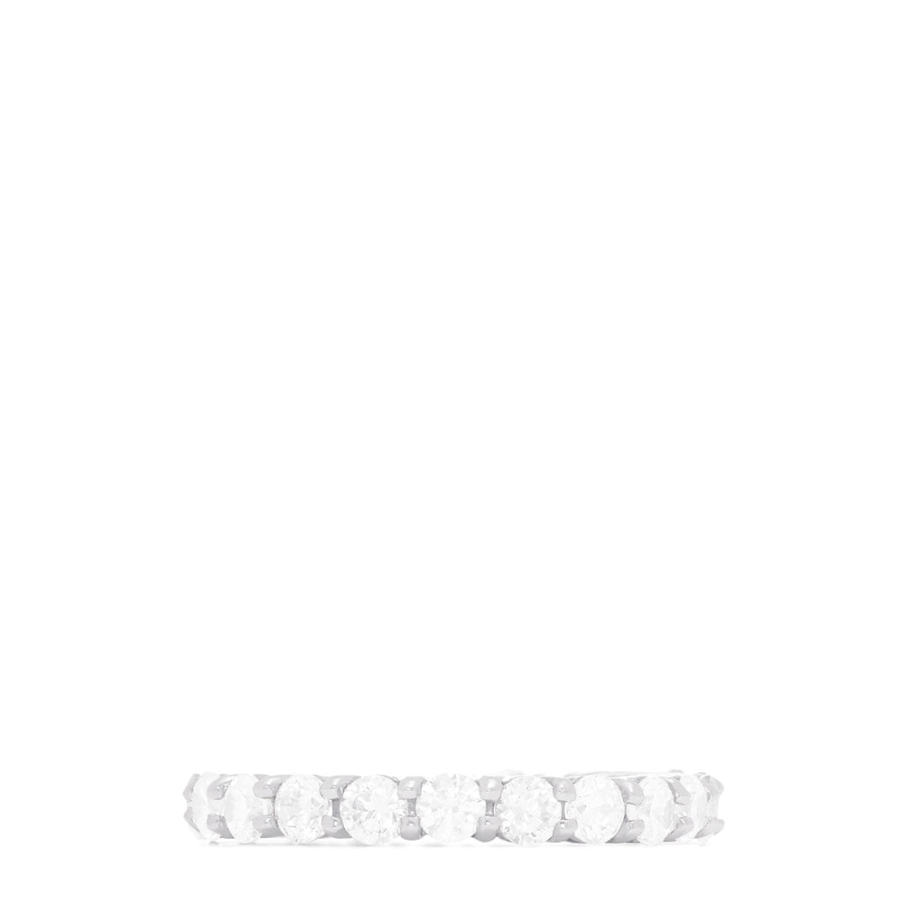 14K White Gold Prong Set Diamond Eternity Band, 2.00 TCW