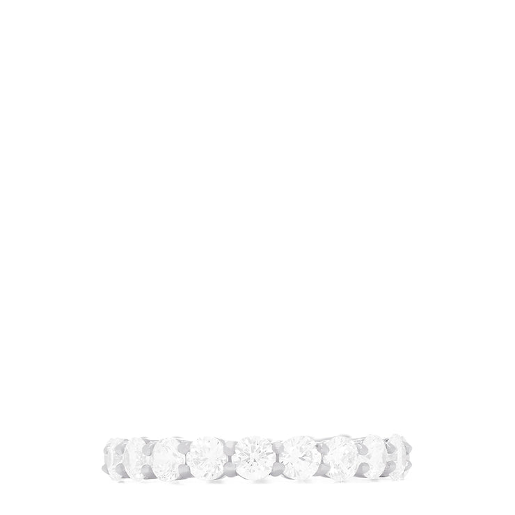 14K White Gold Prong Set Diamond Eternity Band, 3.00 TCW