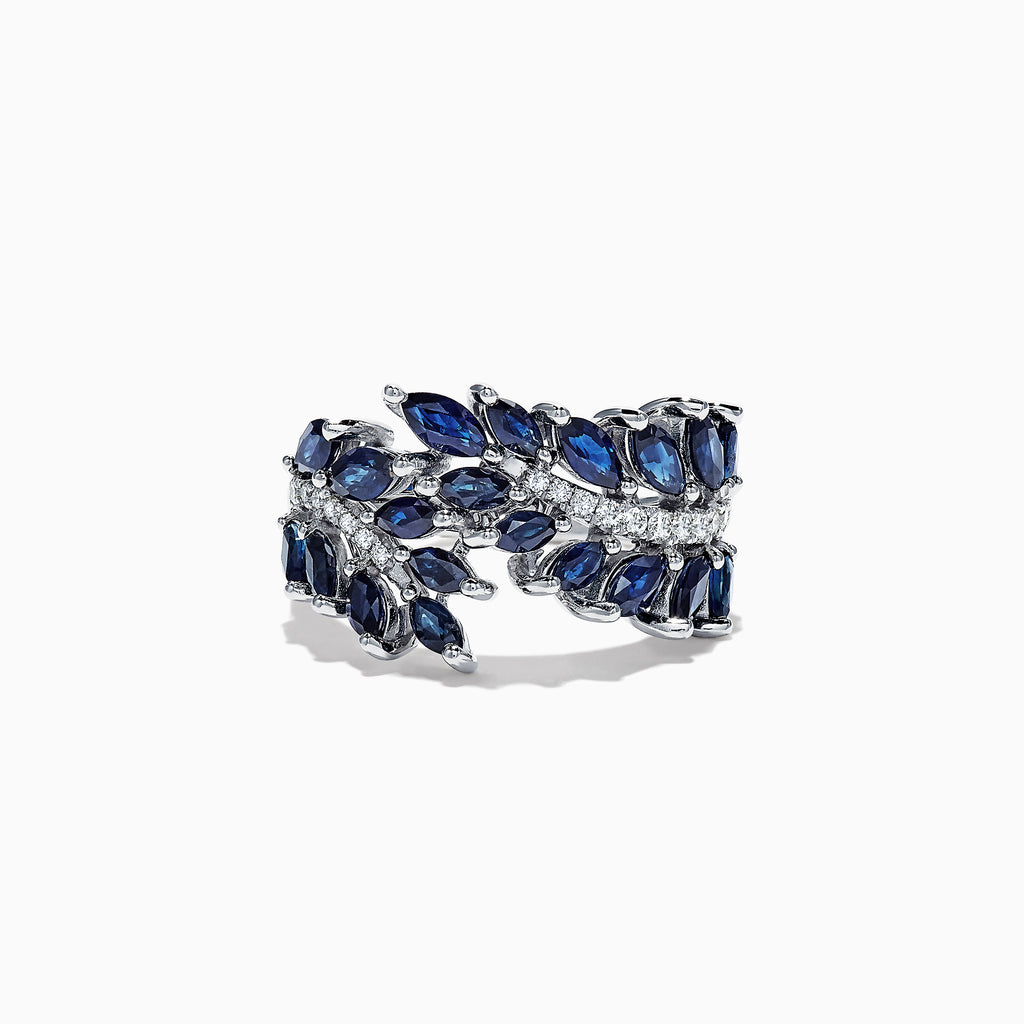 Effy Royale Bleu 14K White Gold Sapphire and Diamond Ring, 3.27 TCW