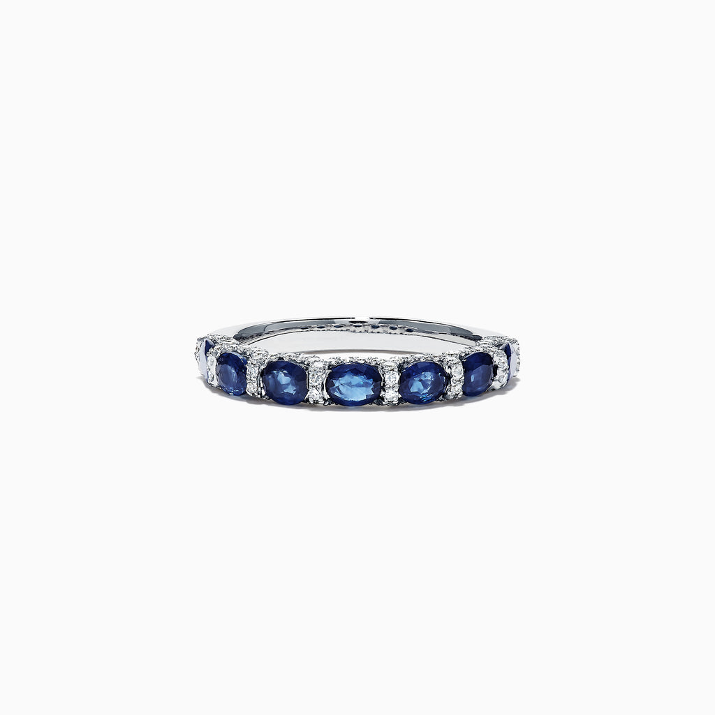 Effy Royale Bleu 14K White Gold Sapphire and Diamond Ring, 2.00 TCW
