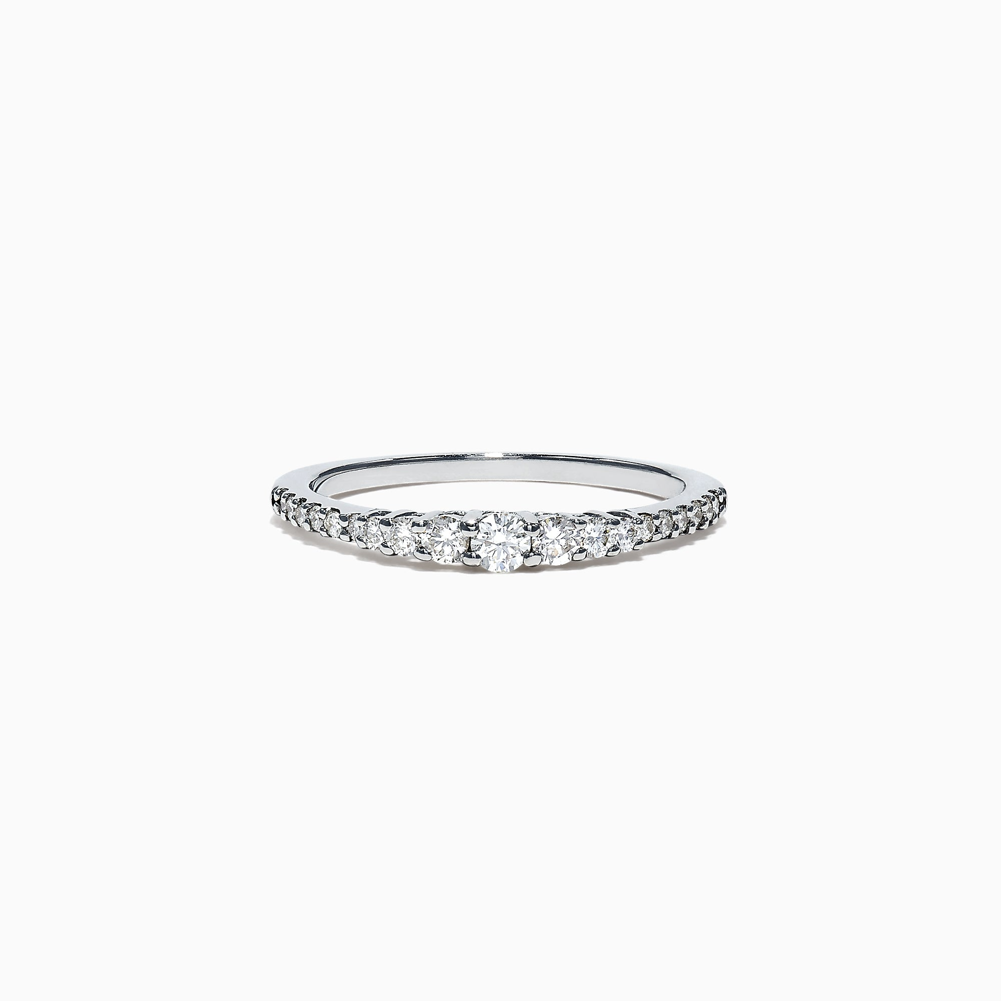 Effy Pave Classica 14K White Gold Diamond Band Ring, 0.31 TCW