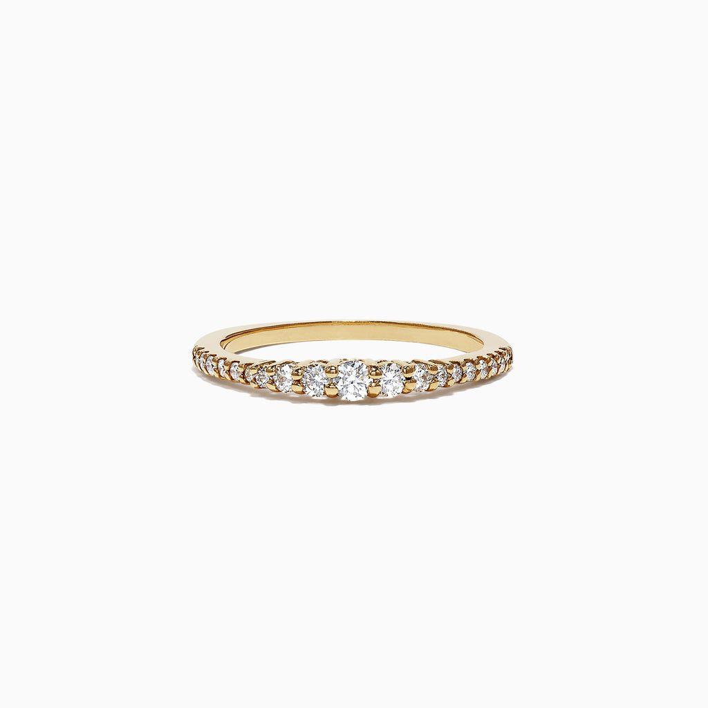 Effy Pave Classica 14K Yellow Gold Diamond Band Ring, 0.31 TCW