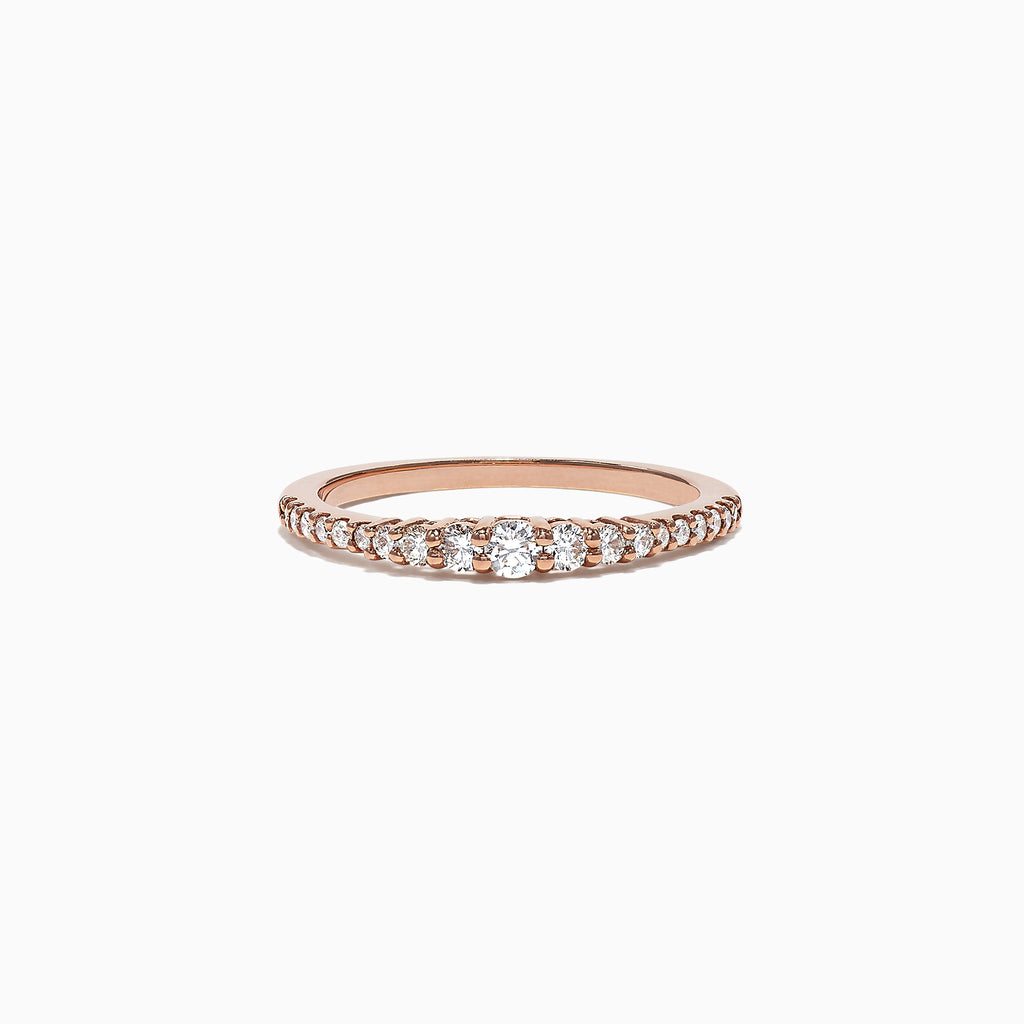 Effy Pave Classica 14K Rose Gold Diamond Band Ring, 0.31 TCW