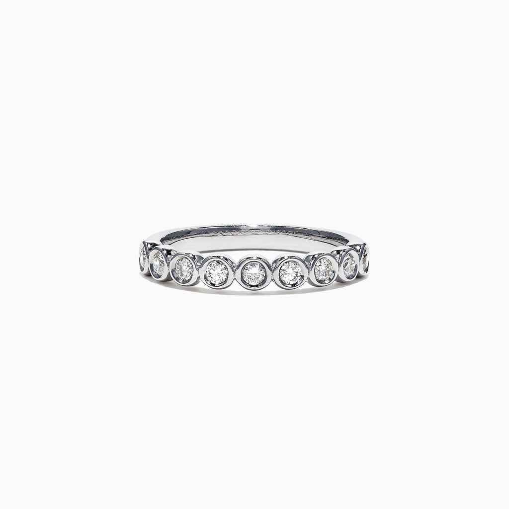 Effy Pave Classica 14K White Gold Diamond Bezel Set Ring, 0.35 TCW