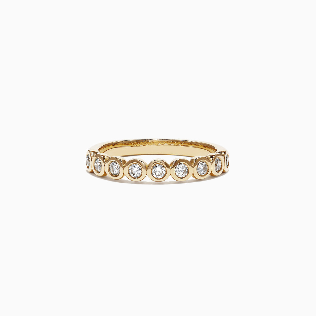 Effy Pave Classica 14K Yellow Gold Diamond Bezel Set Ring, 0.35 TCW