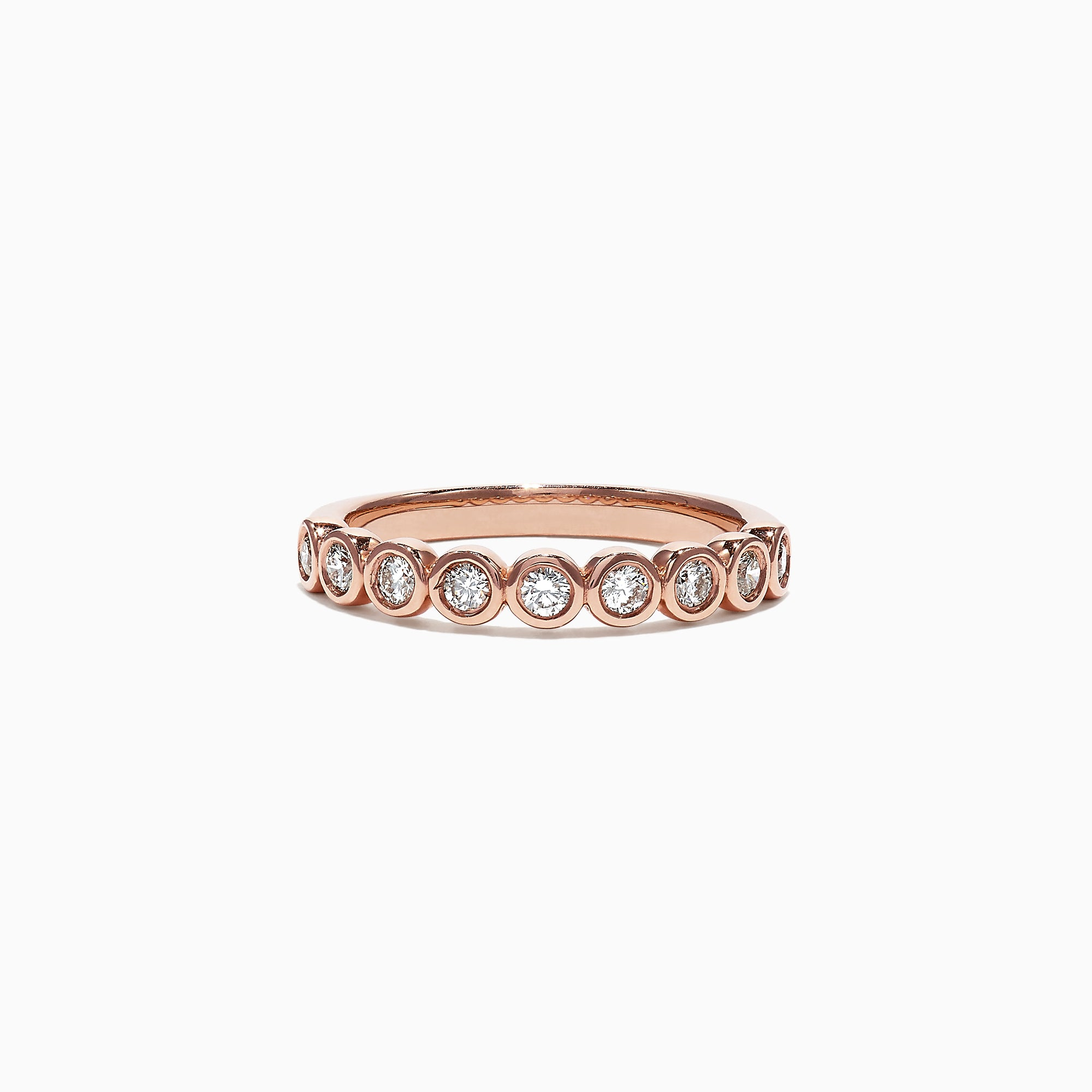 Effy Pave Classica 14K Rose Gold Diamond Bezel Set Ring, 0.35 TCW