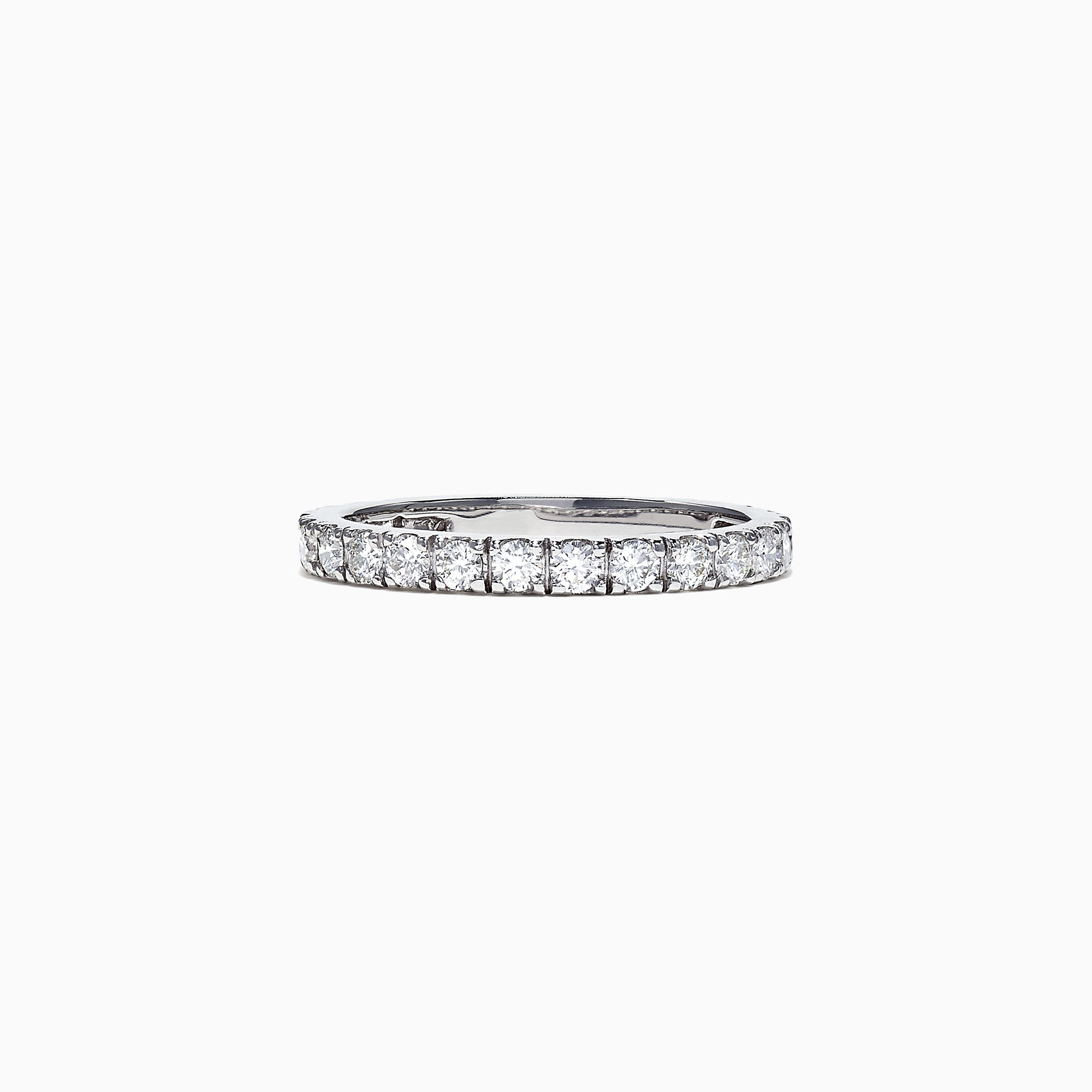 Effy Pave Classica 14K White Gold Diamond Stack Ring, 0.65 TCW