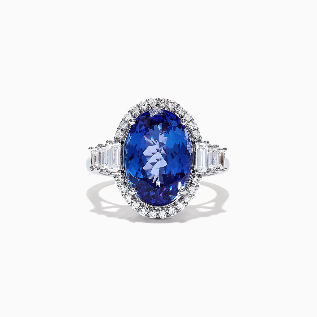 Effy Tanzanite Royale 14K White Gold Tanzanite Diamond Ring, 5.42 TCW