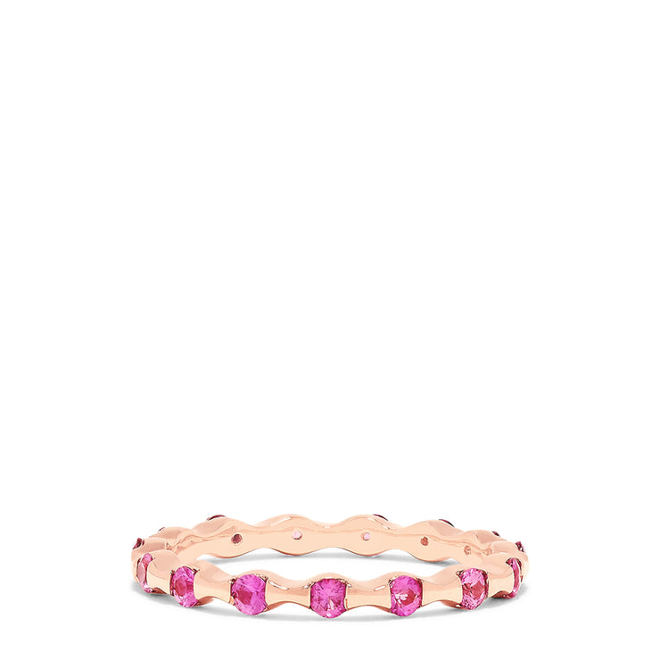 Effy 14K Rose Gold Pink Sapphire Eternity Ring, 0.78 TCW