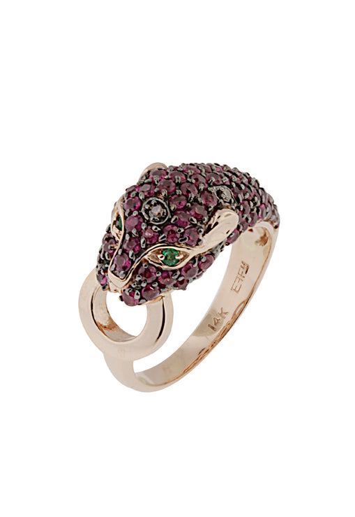 Signature Ruby, Diamond and Emerald Ring, 2.17 TCW