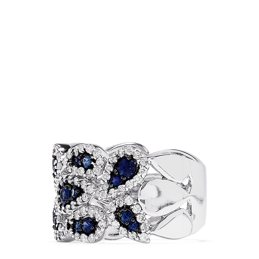 Effy Royale Bleu 14K White Gold Sapphire and Diamond Ring, 2.22 TCW