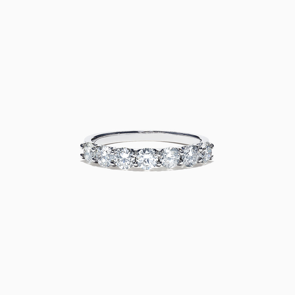 Effy Pave Classica 14K White Gold Diamond Band Ring, 1.03 TCW