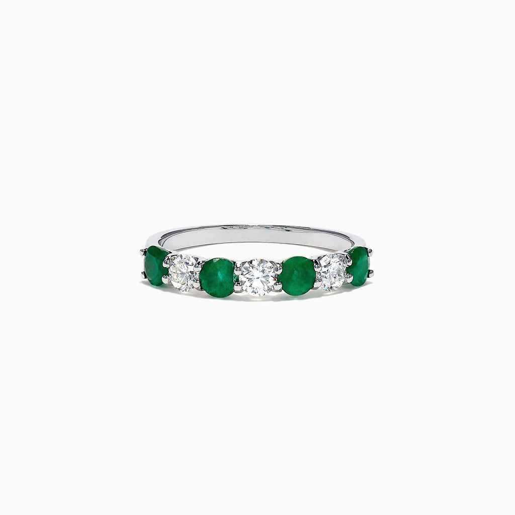 Effy Brasilica 14K White Gold Emerald and Diamond Ring, 1.12 TCW
