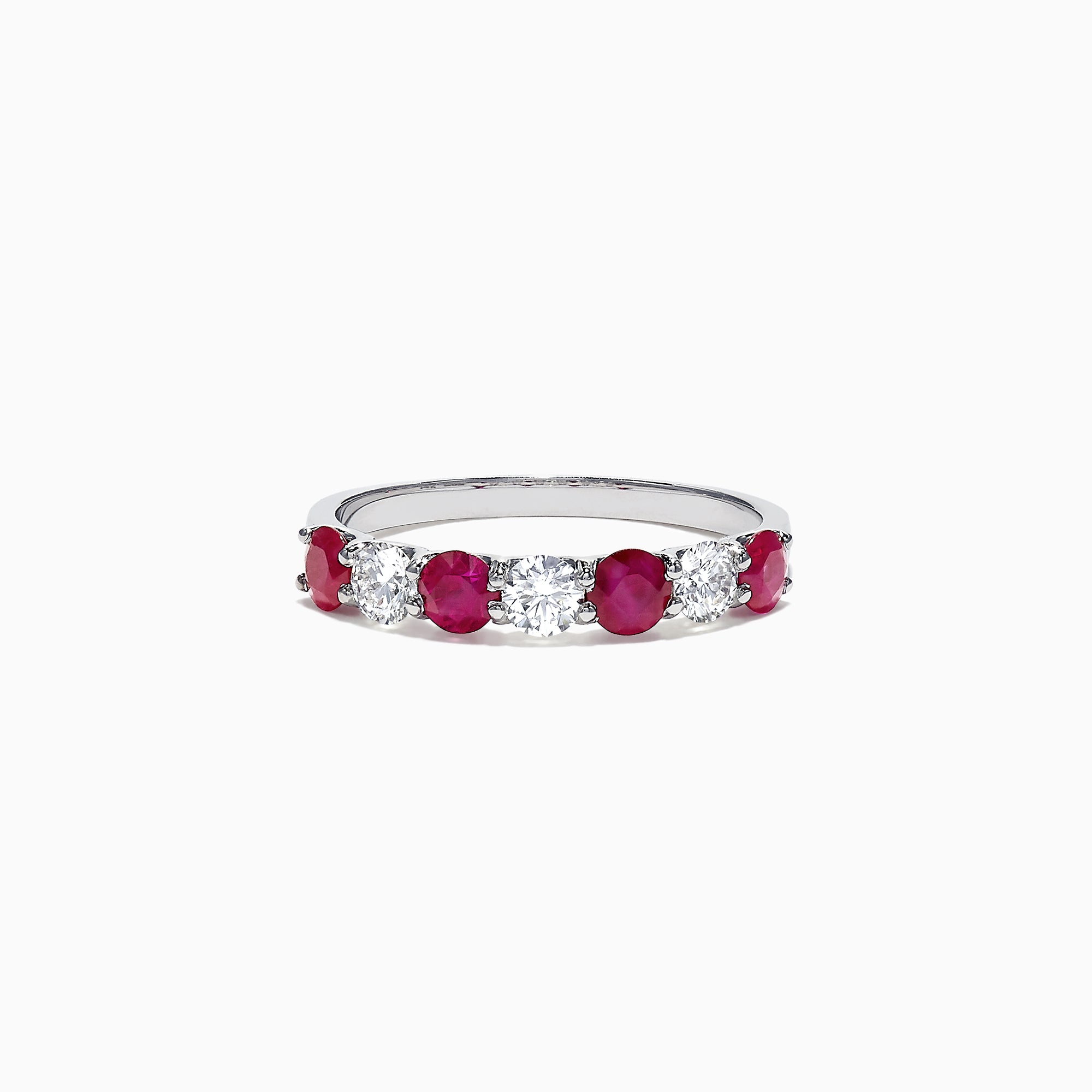 Effy Ruby Royale 14K White Gold Ruby and Diamond Ring, 1.12 TCW