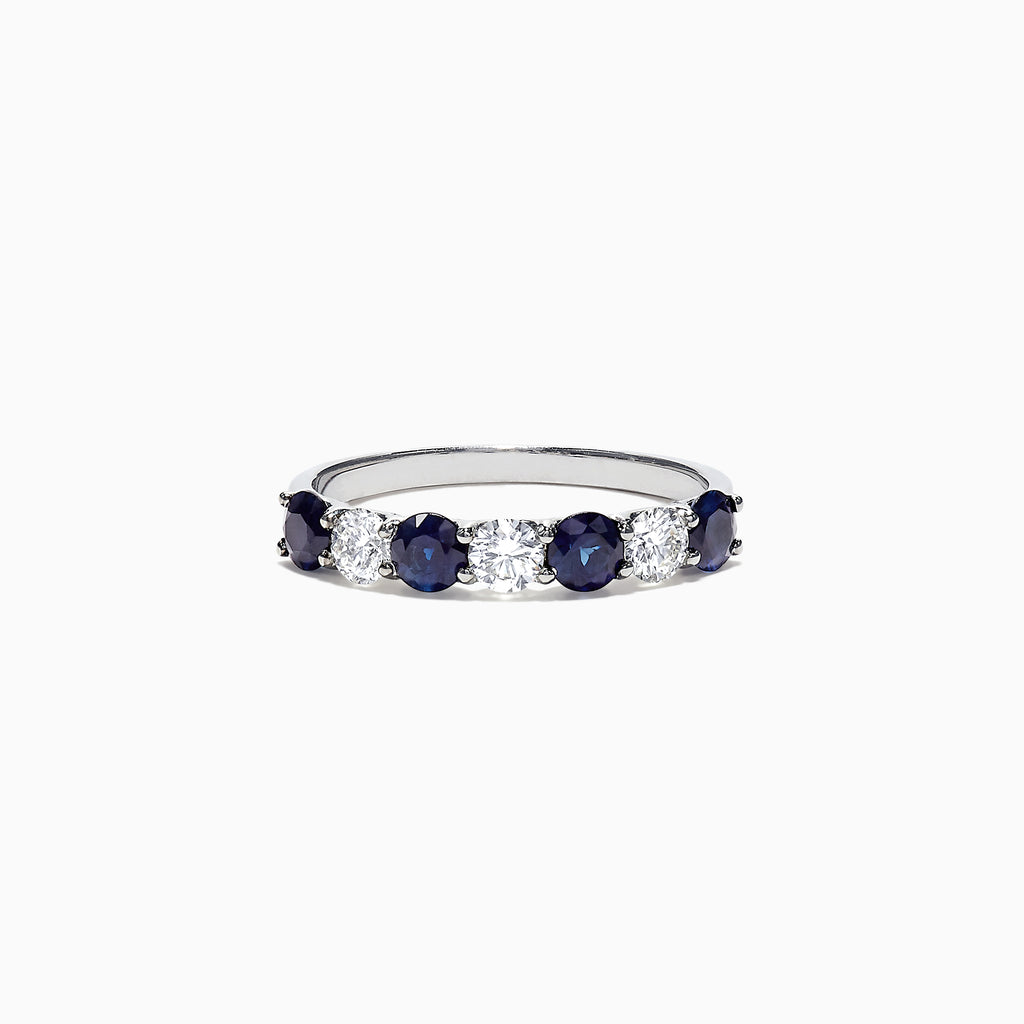 Effy Royale Bleu 14K White Gold Sapphire and Diamond Ring, 1.39 TCW