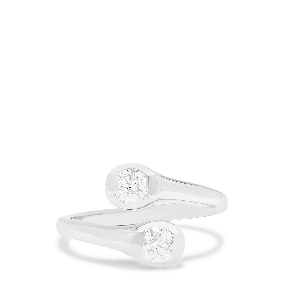Effy 14K White Gold Two-of-Us Diamond Ring, 0.59 TCW