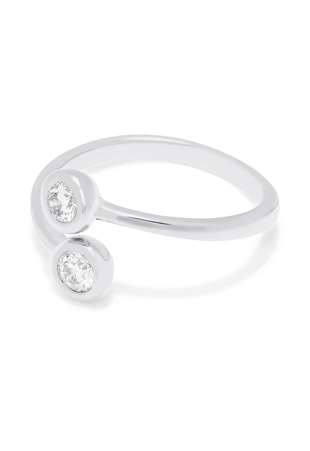 Effy 14K White Gold Two-of-Us Diamond Ring, 0.39 TCW