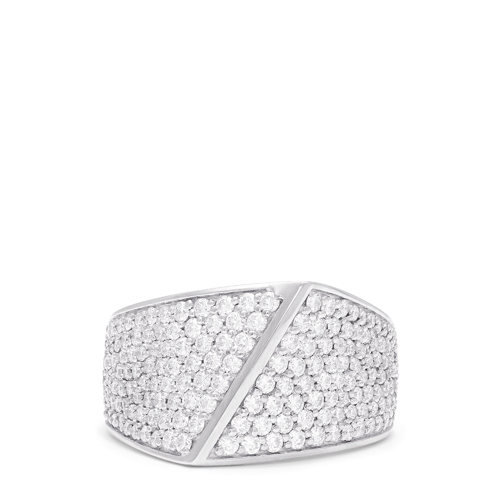 Effy Duo 14K Rose and White Gold Diamond Pave Ring, 1.69 TCW