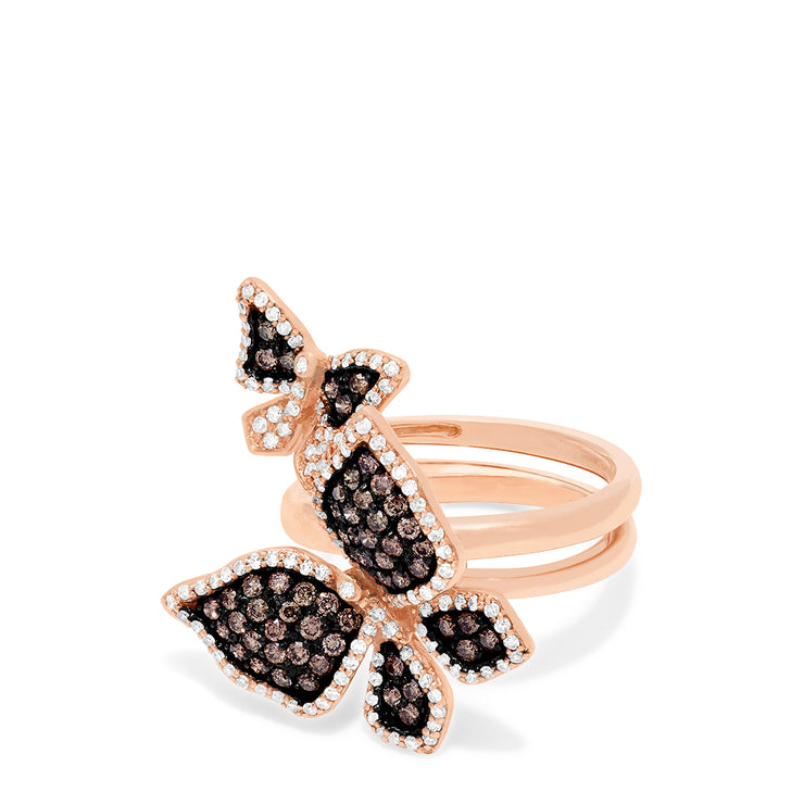 Effy Limited Edition Diamond Butterfly 2 or 1 Finger Ring, 1.18 TCW