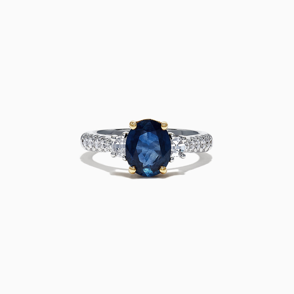 Effy Royale Bleu 14K White Gold Sapphire and Diamond Ring, 2.83 TCW
