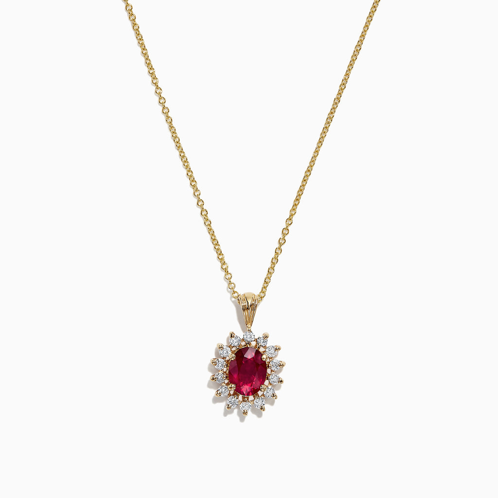 Effy Ruby Royale 14K Yellow Gold Ruby and Diamond Pendant, 1.76 TCW