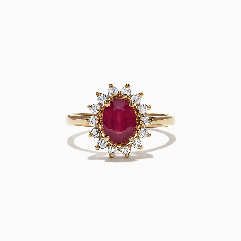 Effy Ruby Royale 14K Yellow Gold Ruby and Diamond Ring, 1.76 TCW