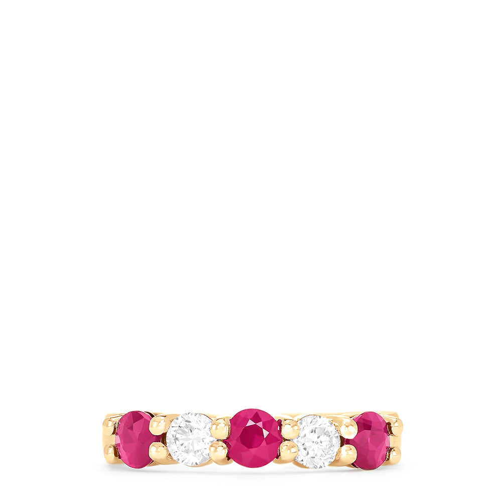 Effy Gemma 14K Yellow Gold Natural Ruby and Diamond Ring, 1.08 TCW