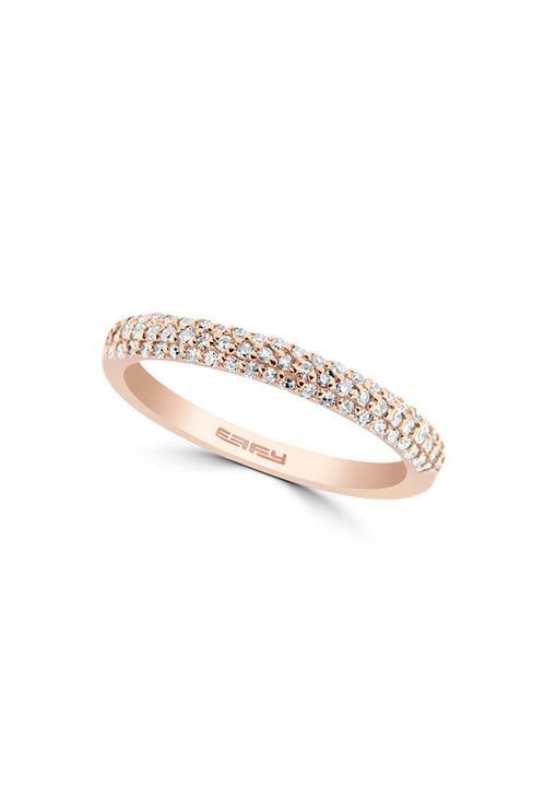 Effy 14K Rose Gold Pave Diamond Ring, 0.33 TCW