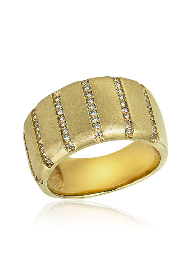 14K Yellow Gold Diamond Ring, .26 TCW