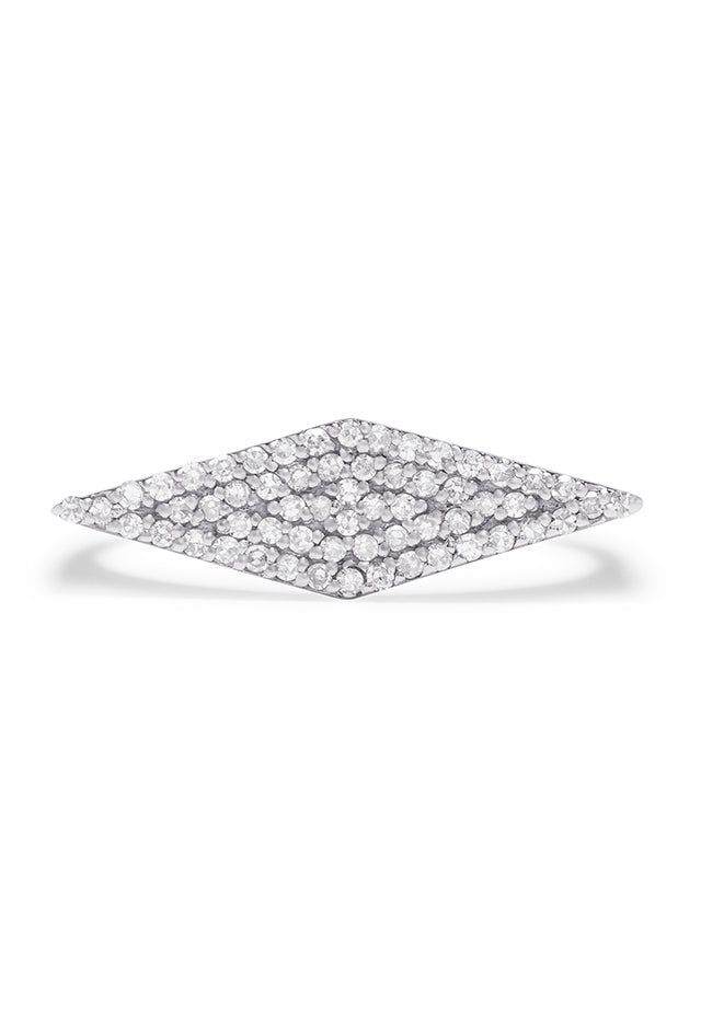 Effy Pave Classica 14K White Gold Diamond Ring, 0.24 TCW