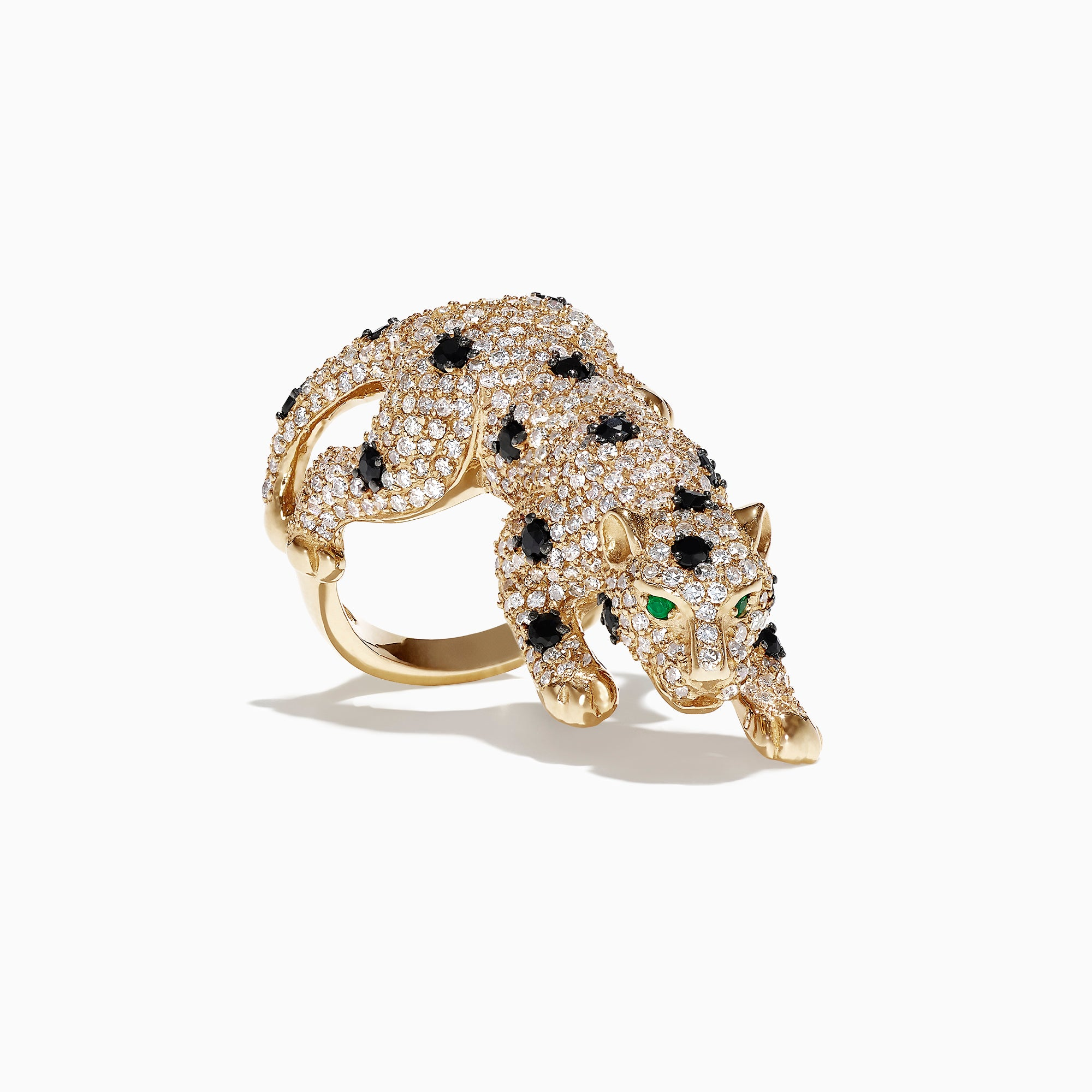 Effy Signature 14K Yellow Gold Diamond Panther Ring, 2.92 TCW