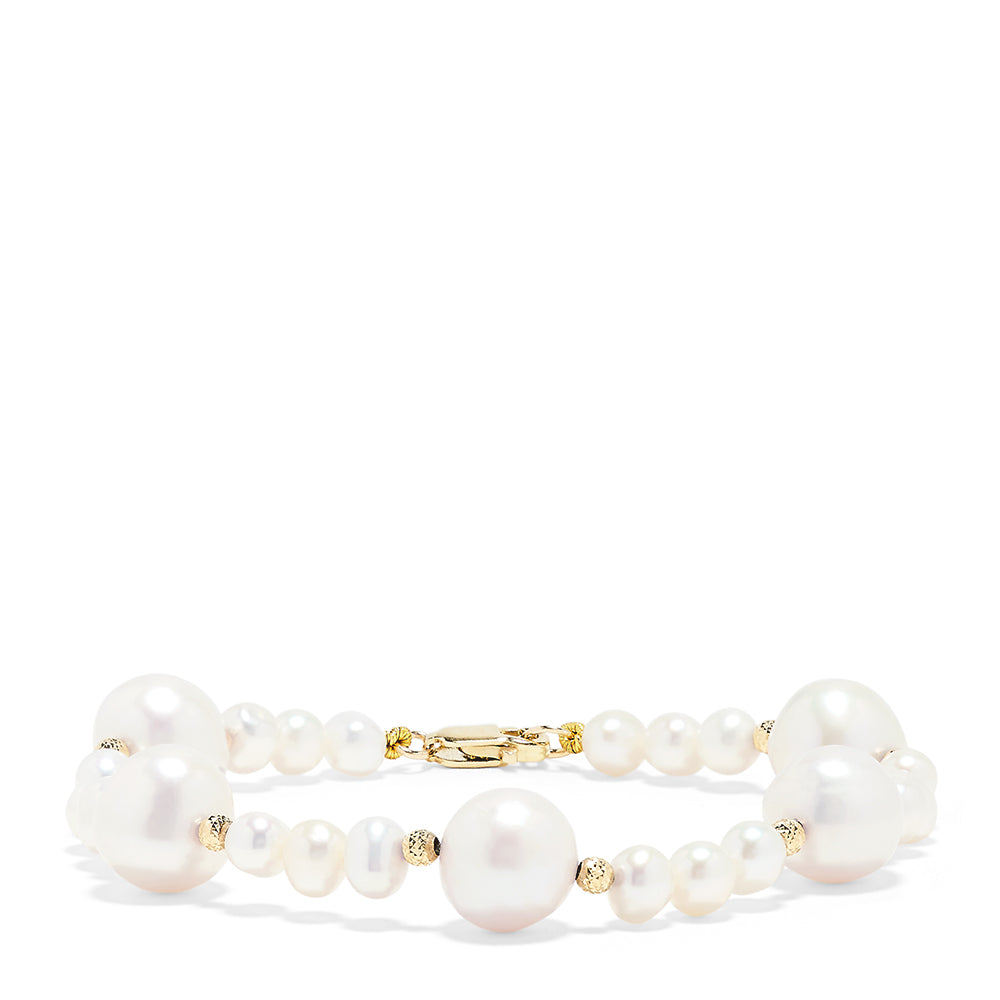 Effy 14K Yellow Gold Cultured Freshwater Pearls Bracelet