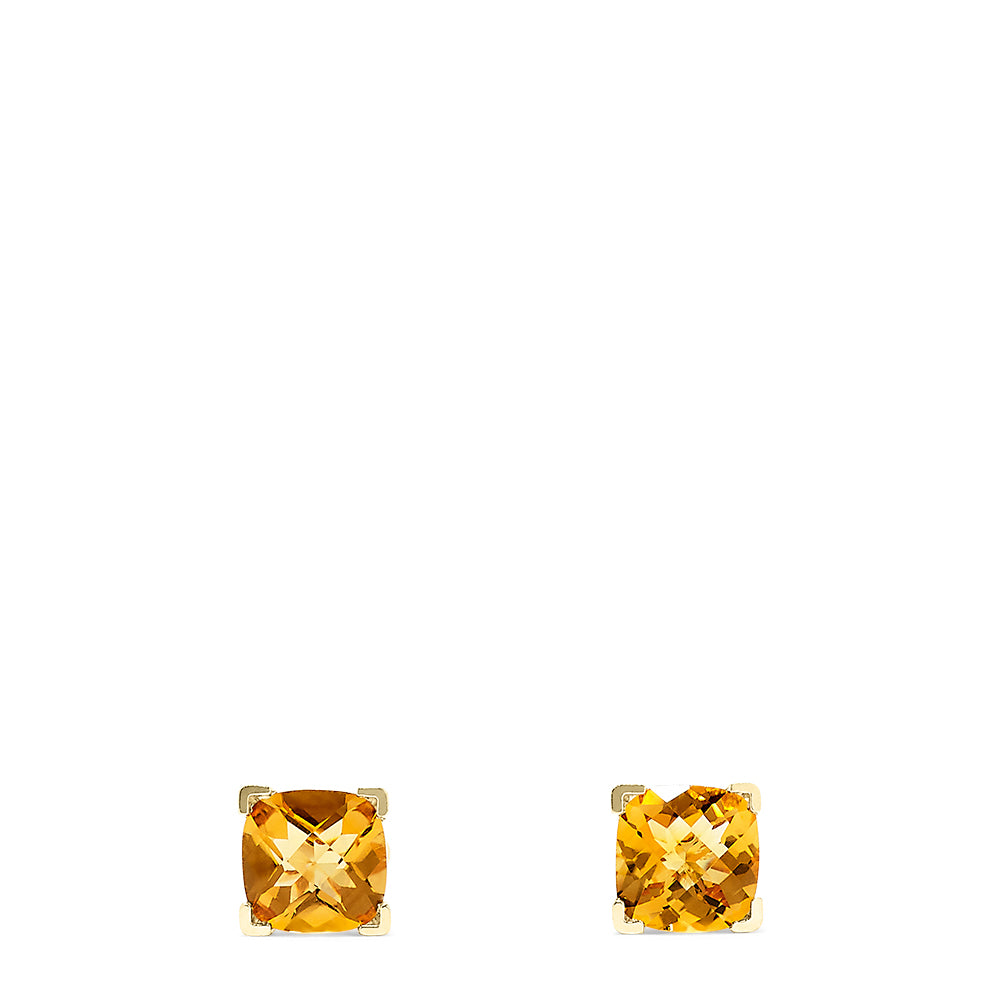 Effy 14K Yellow Gold Citrine Stud Earrings, 4.18 TCW
