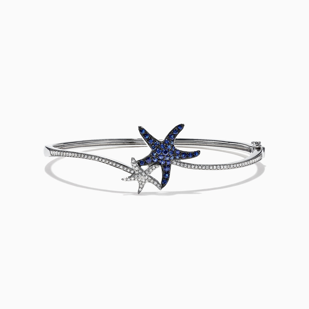 Effy Seaside 14K Gold Blue Sapphire & Diamond Starfish Bracelet, 1.06 TCW