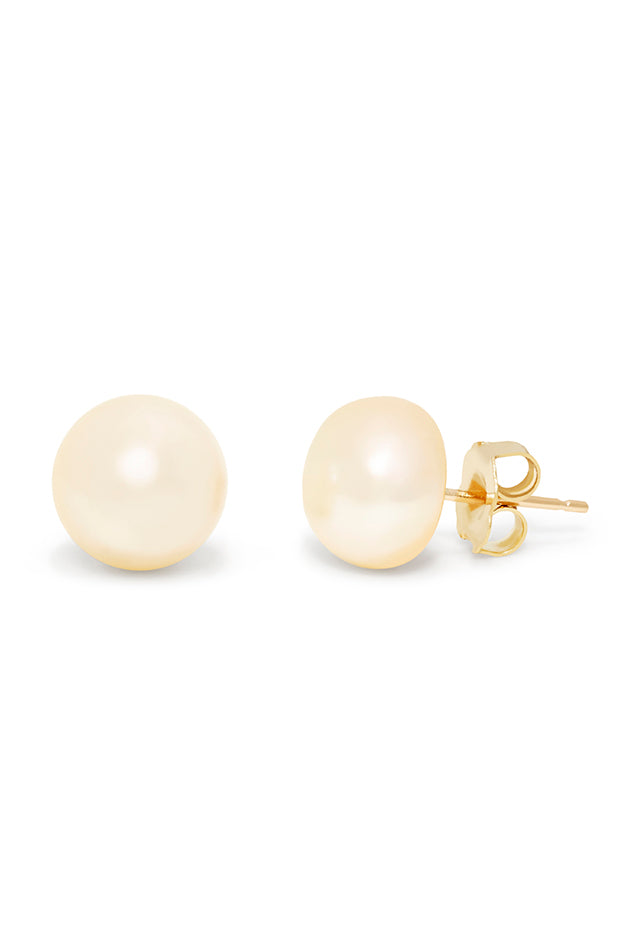 Effy 14K Yellow Gold Cultured Pearl Stud Earrings