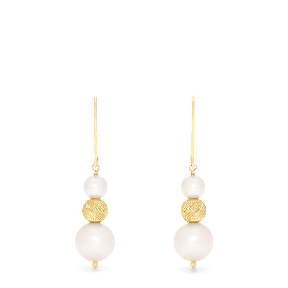 Effy 14K Yellow Gold Cultured Fresh Water Pearl Earrings