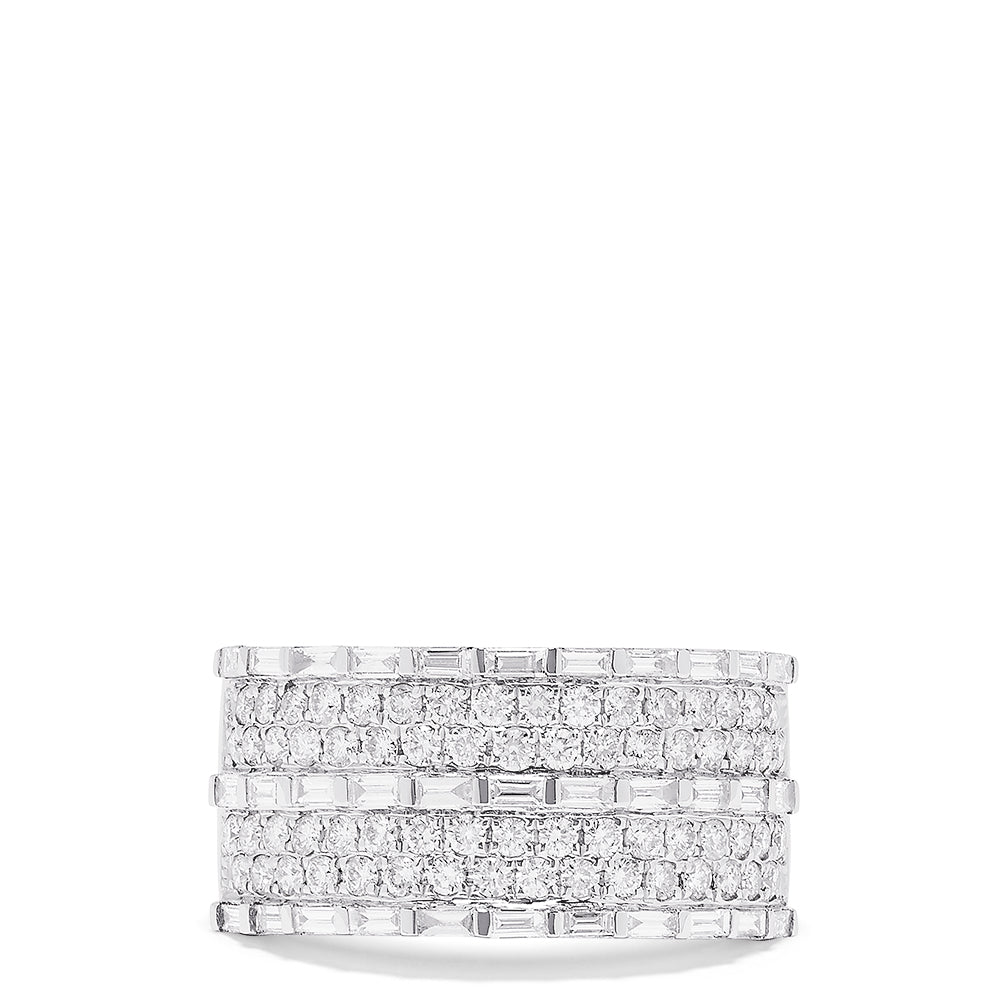 Effy Pave Classica 14K White Gold Diamond Ring, 1.42 TCW