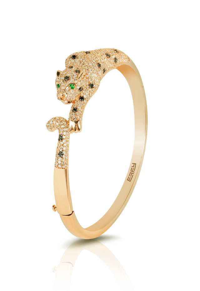 Effy Signature 14K Yellow Gold Diamond and Emerald Bangle, 3.46 TCW