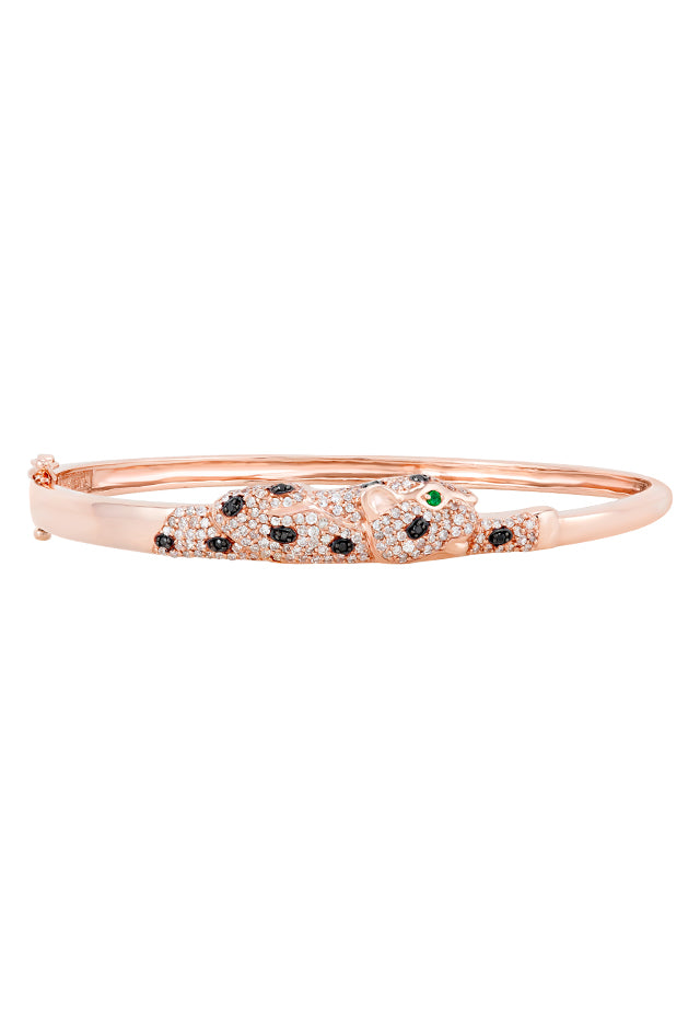 Effy Signature 14K Rose Gold Diamond and Emerald Bangle, 1.05 TCW